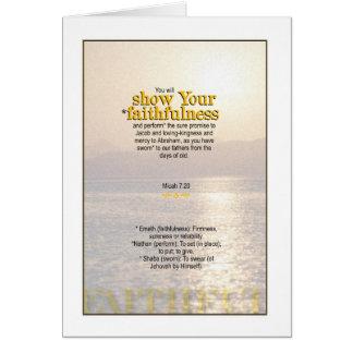 Toon de Trouw van de God - 7:20 Micah Briefkaarten 0