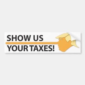 Toon ons Uw Belastingen (op wit) Bumpersticker