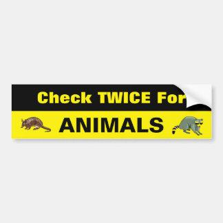 Toon u Zorg voor Dieren & Huisdieren Bumpersticker