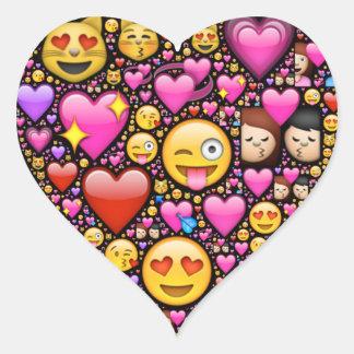 Toon uw liefde en affectie door emoji-Kunst Hart Sticker