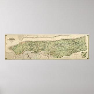 Topografische Atlas van de Stad New-York, 1874 Poster