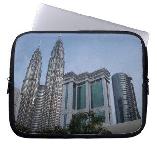 Topwerslaptop van Kuala Lumpur tweelingsleeve Laptop Computer Hoes