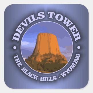 Toren 3 van duivels vierkante sticker