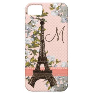 Toren de met monogram van Eiffel Barely There iPhone 5 Hoesje