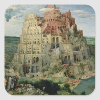 Toren van Babel Vierkante Sticker