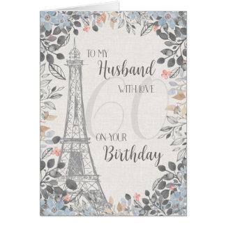 Toren van Eiffel van de Verjaardag van de Kaart