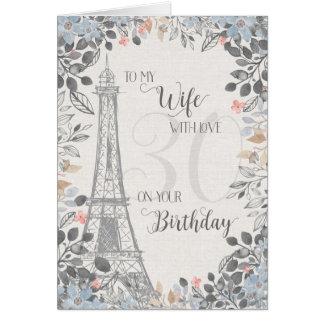 Toren van Eiffel van de Verjaardag van de vrouw de Briefkaarten 0