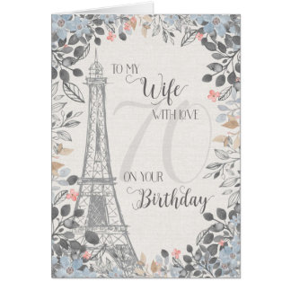 Toren van Eiffel van de Verjaardag van de vrouw de Kaart