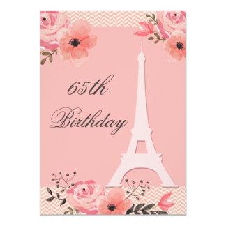 toren van Parijs Eiffel van de 65ste Verjaardag de 12,7x17,8 Uitnodiging Kaart