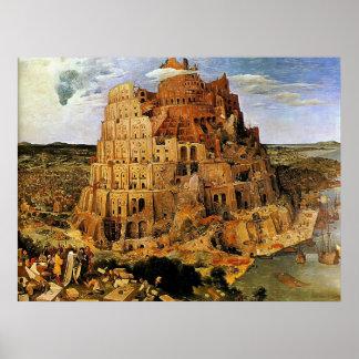 """Toren van Pieter Bruegel's de """"van Babel"""" (circa Poster"""
