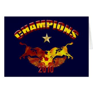 Toro van kampioenen Spaanse stieren 2010 Wenskaart