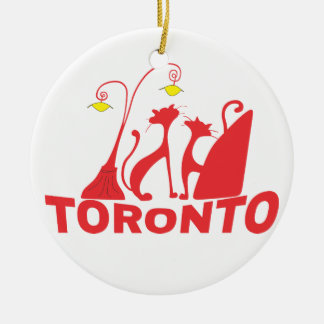 Toronto 1 rond keramisch ornament