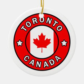 Toronto Canada Rond Keramisch Ornament