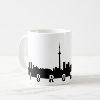 Toronto cityscape Canada zwarte silhoue van het Koffiemok