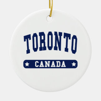 Toronto Rond Keramisch Ornament