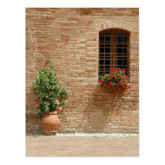 Toscaans pottenn plant briefkaart