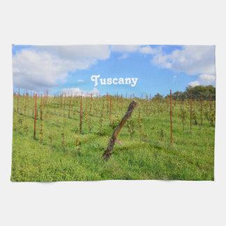 Toscaanse Wijngaard Theedoek