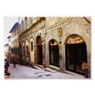 Toscanië. Italië. Cortona. Poster
