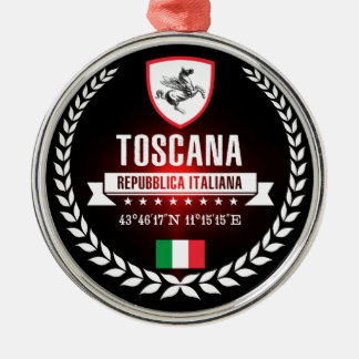 Toscanië Zilverkleurig Rond Ornament