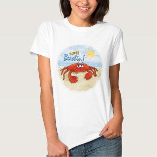 Totaal Beachin krabt-shirt T-shirt