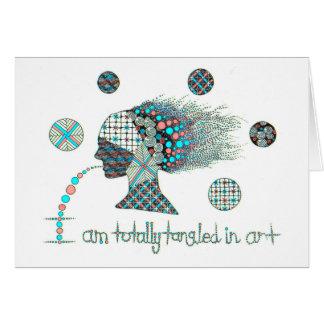 Totaal Verward in Kunst Grafische Zentangle Wenskaarten
