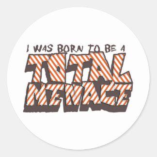 Totale Dreiging Ronde Sticker
