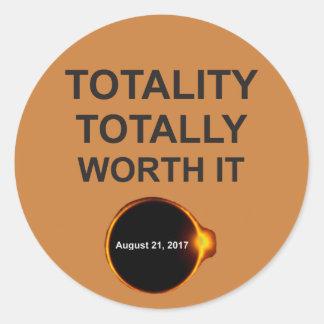 Totaliteit totaal met een waarde van het 21 ronde sticker