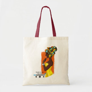 Tote Bag African Queen Draagtas