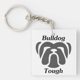 Tough van de buldog 2-Zijde vierkante acryl sleutelhanger