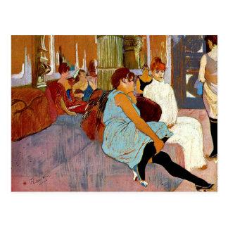 Toulouse-Lautrec - de Salon in Rue des Moulin Briefkaart