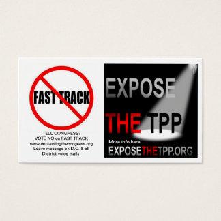 TPP en Snelle Bedrijfs van het Spoor/van Info Visitekaartjes