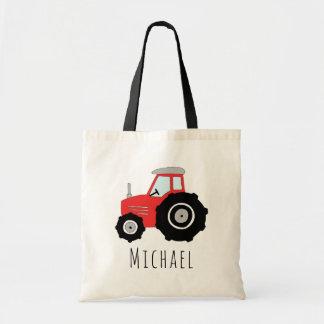 Tractor en de Naam van het Boerderij van de leuke Draagtas