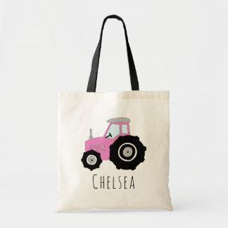 Tractor en de Naam van het Boerderij van het leuke Draagtas