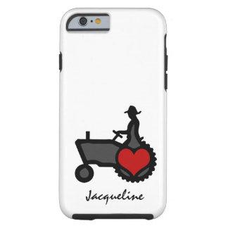 Tractor met de Liefde van het Hart het Land Tough iPhone 6 Hoesje