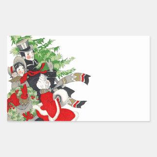 Traditie van de Kerstboom van de sticker de