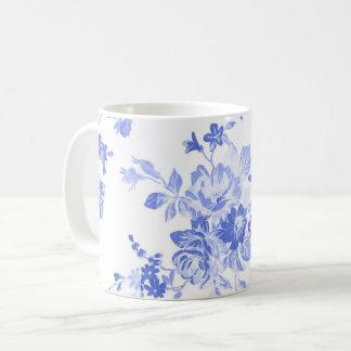 traditionele blauwe witte het patroonmok van koffiemok