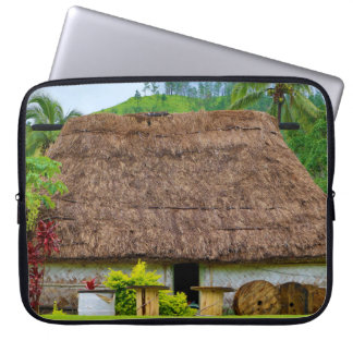 Traditionele Fijian Bure, Navala Dorp, Fiji Laptop Sleeve