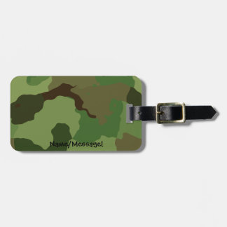Traditionele militaire camouflage bagagelabel