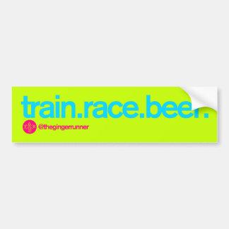 TRAIN.RACE.BEER. De Sticker van de bumper