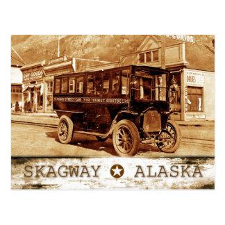 Tram op Ave Broadway., Skagway, Alaska Briefkaart