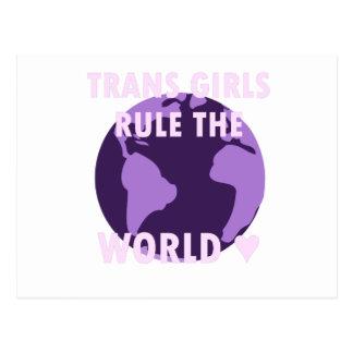 Trans de Regel van Meisjes de Wereld (v1) Briefkaart
