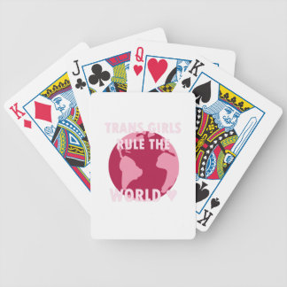 Trans de Regel van Meisjes de Wereld (v2) Bicycle Speelkaarten