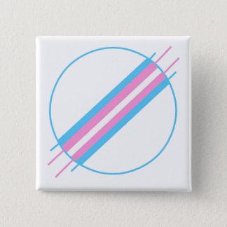 Trans de Speld van de Trots Vierkante Button 5,1 Cm