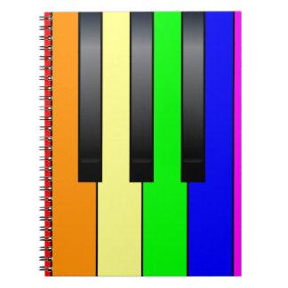 Trans de Vrolijke Sleutels van de Piano Ringband Notitieboeken