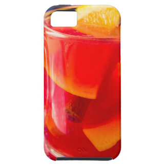 Transparante mok met citrusvrucht overwogen wijn tough iPhone 5 hoesje