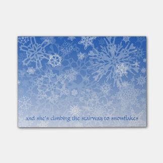 Trap aan het Manuscript van Sneeuwvlokken Post-it® Notes