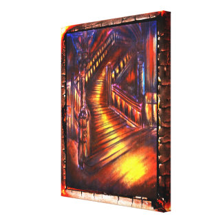 Trap van Licht Canvas Afdrukken