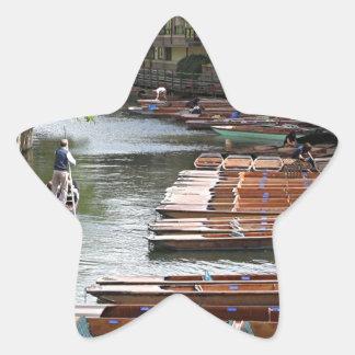 Trappen in Cambridge, Engeland Ster Sticker