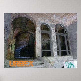 Treden 01.0 ruïne, URBEX, Verloren Plaatsen, Poster