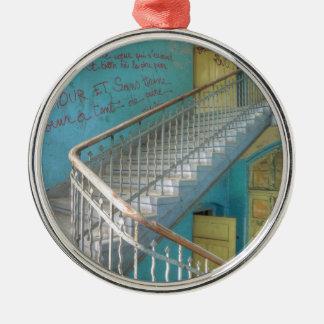 Treden 01.0, Verloren Plaatsen, Beelitz Zilverkleurig Rond Ornament